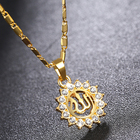 SWTR1363 Islam jewelry,Allah the sun crystal necklace,pendant necklace