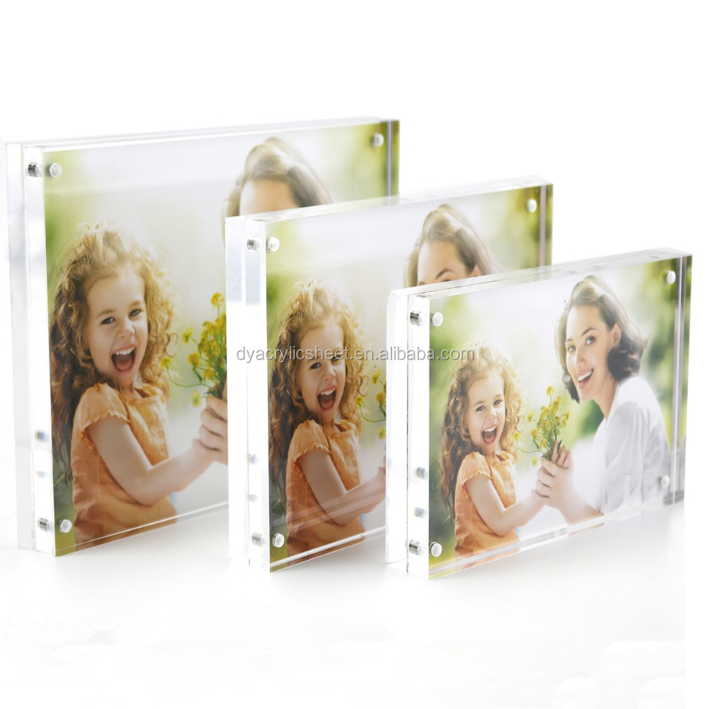 5 Inch 6 Inch 7 Inch 8 Inch Double-faced Crystal Photo Frame Desk Set Acrylic Photo Frame Hot Sale