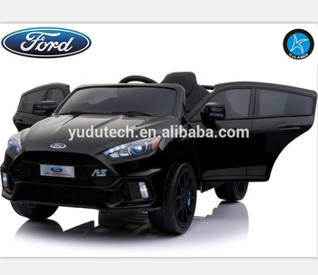 Black Licensed Ford Focus Rs 12v Children S Battery Operated Ride On Car