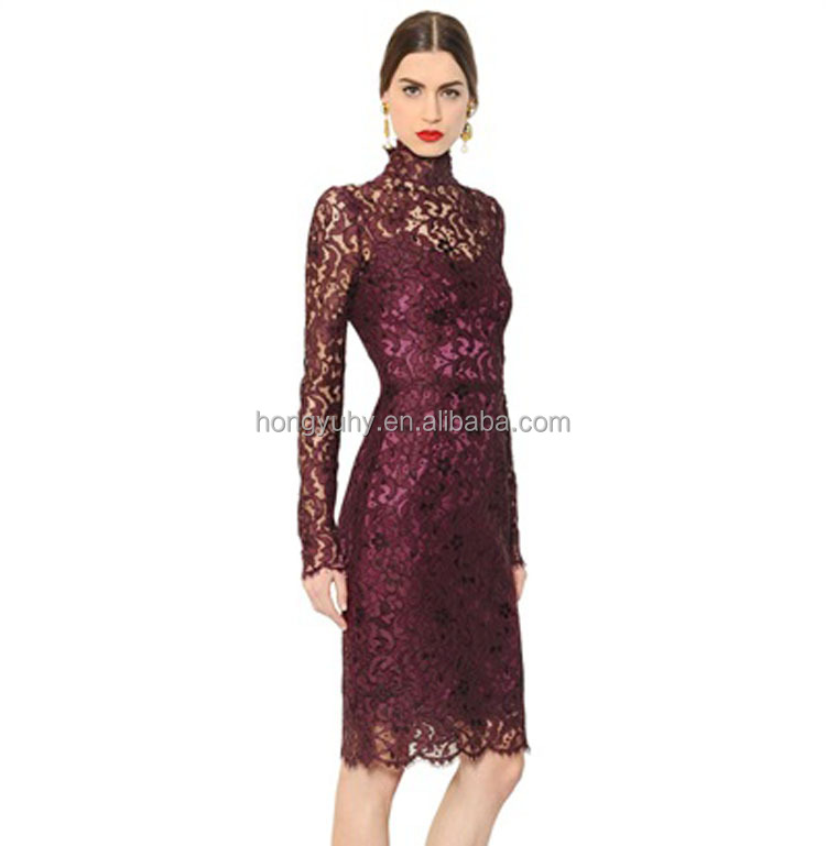Kate Middleton Dress Plus Size Purple Lace Dress Winter Fashion Pencil  Bodycon Party Dresses Renda Vestido De Festa Robe - Buy Kate Middleton ...