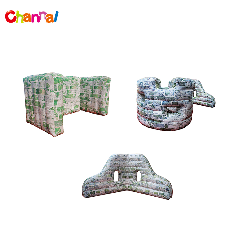 Team Building High Quality Camouflage Inflatable Paintball Wall Paintball Bunkers Barrie Cheap Prices