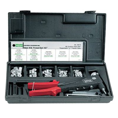 M39316, MARSON MANUAL TOOL, MARSON THREAD-SETTER TOOL KIT, METRIC RIVET NUTS 4MM, 5MM, 6MM MANDRELS & NOSEPIECES (1 PK)