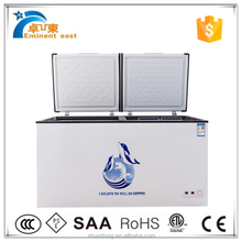 800L chest two lid deep cold storage freezer used refrigerator container chiller