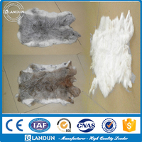 Factory wholesale Natural Rex Rabbit Fur Skin raw fur for Garment