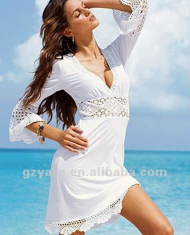 cc92460a5bde8 فساتين زفاف 2013 أزياء جديدة 2012 طويلة قصيرة بنات الترتر مثير الشاطئ الأبيض