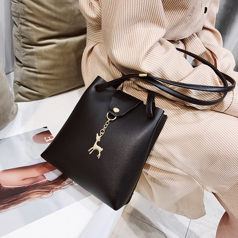 China Manufacture deer slider lady hand bag designer women ladies hand bags