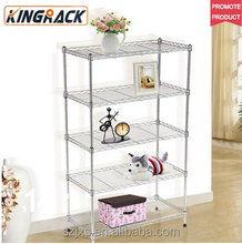 2017 New Design Functional Metal Storage Wire Shelving Rack For Home