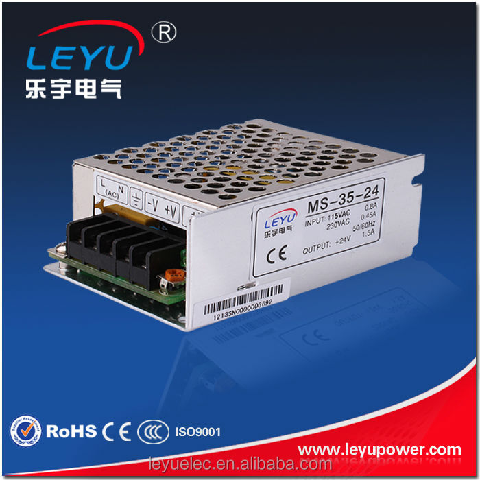 MS-35-24 CE RoHS mini size 35W 24V switching power supply with free technical support