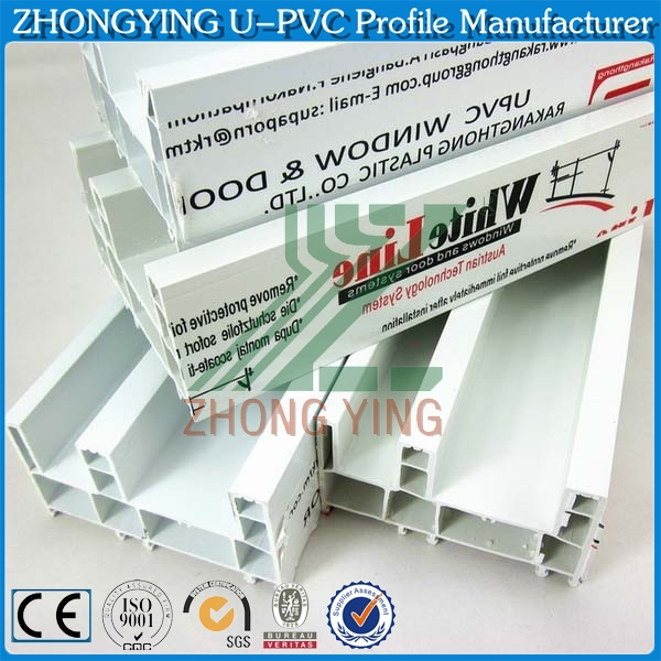 ZHONGYING spot supply 4 types white pvc ceiling profiles