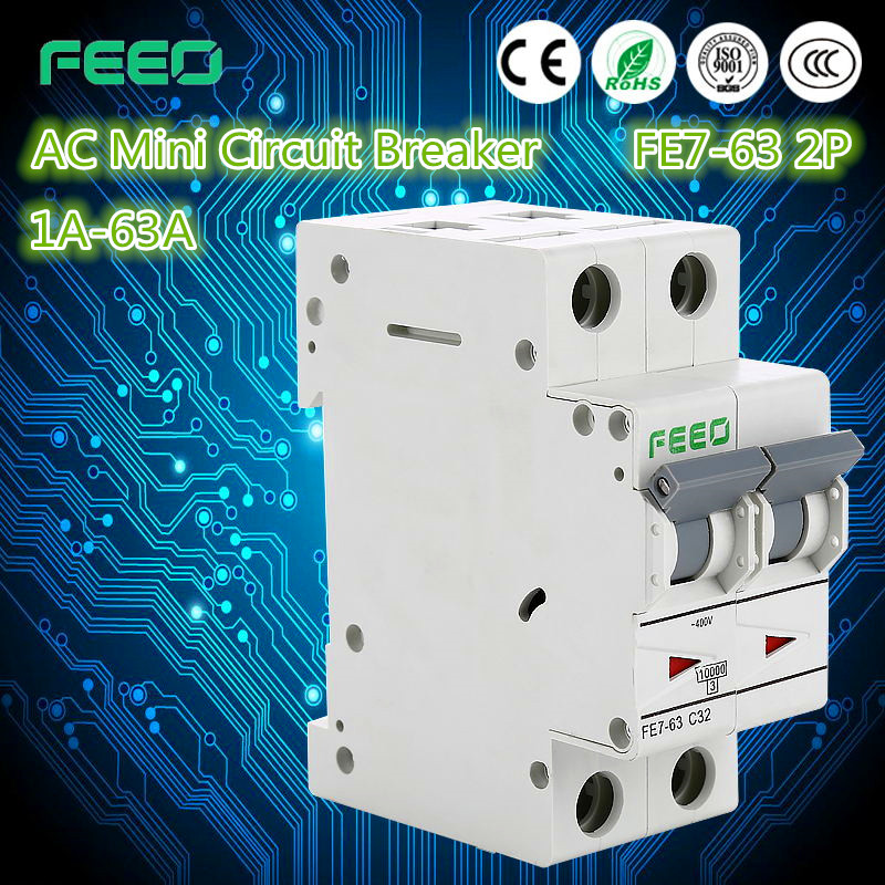 Overload protector 1P 2P 3P 4P 1-63A micro circuit breaker minature circuit breaker mini 50a circuit breaker with IEC