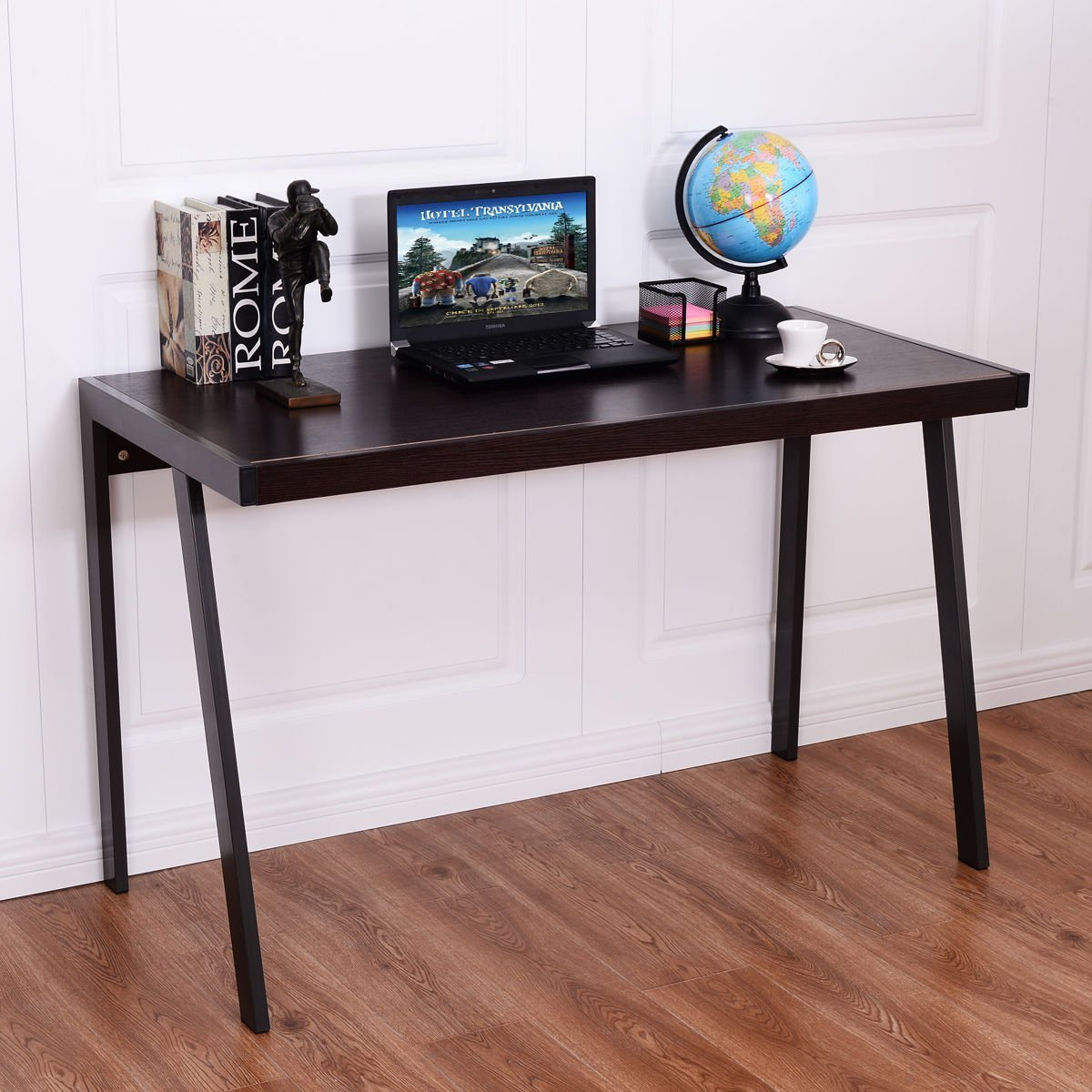 Tangkula Computer Desk Writing Desk Simple Compact Home Office Workstation Laptop PC Workstation with Spacious Desktop Study Desk Writing Table