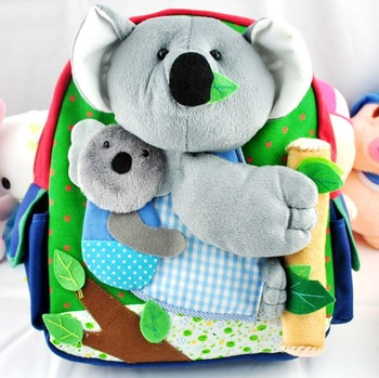 2015 nouvelle koala mignon catoon paules maternelle b b sac d 39 cole gar on et fille enfants. Black Bedroom Furniture Sets. Home Design Ideas