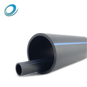 Black color plastic underground food grade sdr 11 polyethylene hdpe pipe 500mm for irrigation