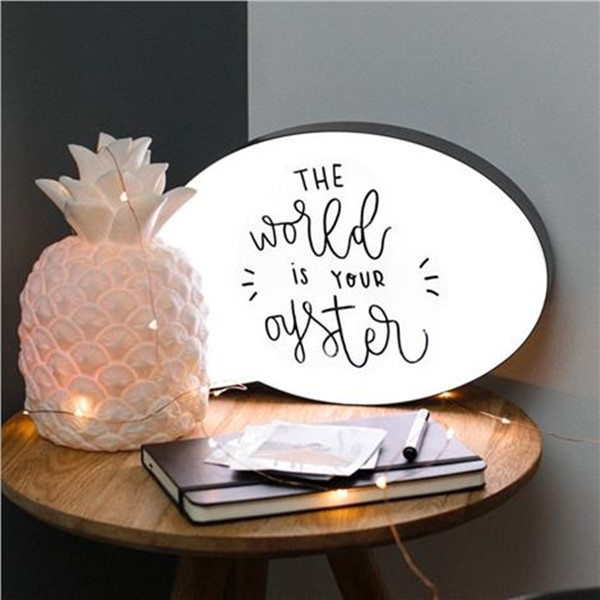 Speech Bubble LED Light Up Box Write Your Own Message Note Display Sign Board