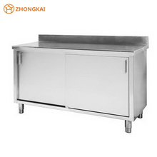 Commercial Kitchen Stainless Steel Work Bench Tool Cabinets with Two Doors
