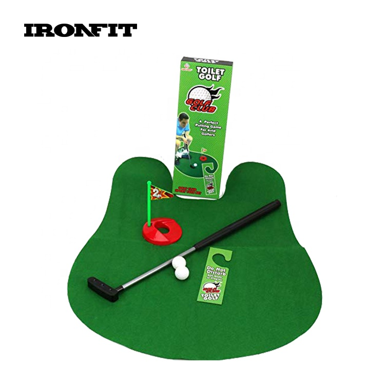 Novelty Bathroom Toy Potty Putter Game Kits Toilet Golf