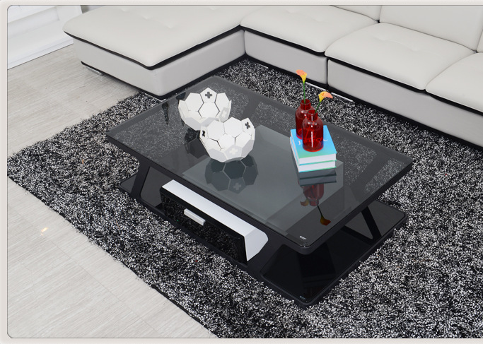 Modern design glass living room new center table cj203e - Glass centre table for living room ...