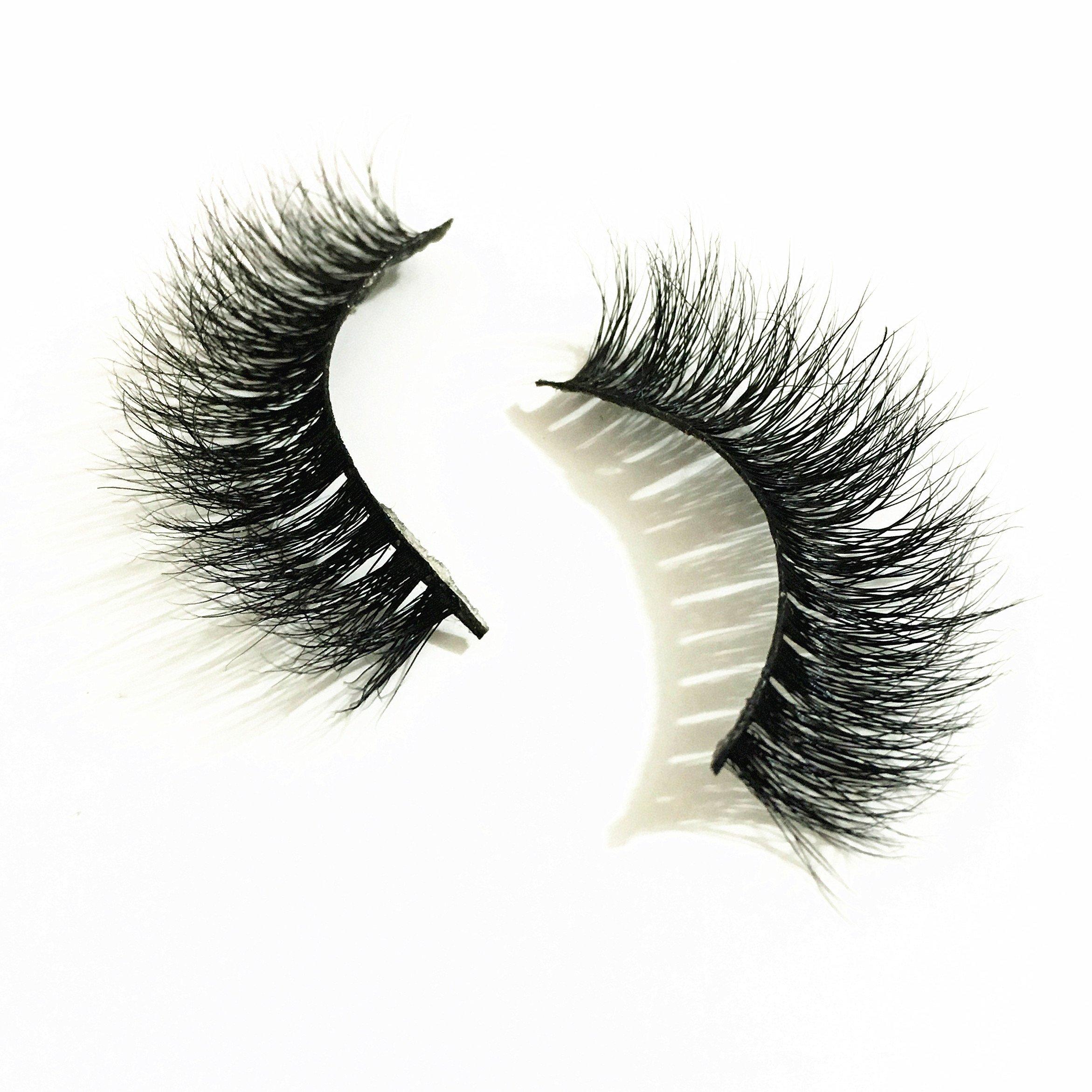 873ab21390a Get Quotations · 3D02 Mink lashes Hand-made False Lashes Stirp Reusable 100%  Siberian Fur Fake Eyelash