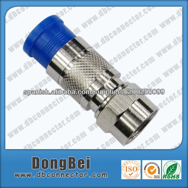 Conectores para cable coaxial rg59 rg6 compresi n conector - Cable coaxial precio ...