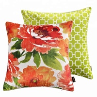 Custom Wholesale Digital printed home decor sofa square velvet cushion