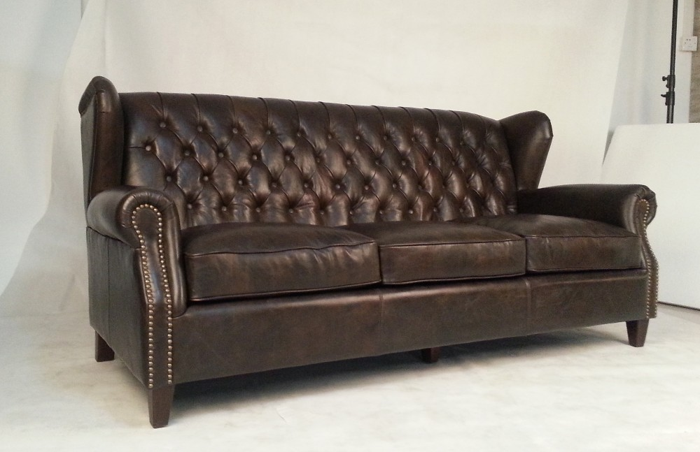 Upholstery 3 Seat Vintage Leather High Back Wing Chair Buy Antique High Back Chairs Vintage Leather High Back Wing Chair Upholstery 3 Seat High Back