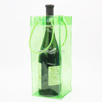 Wholesale plastic pvc wine cooler bag transparent