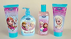 Disney Frozen Bath Set(Frosted Berry Shampoo, Bubble Bath, Body Lotion, And Hand Soap)