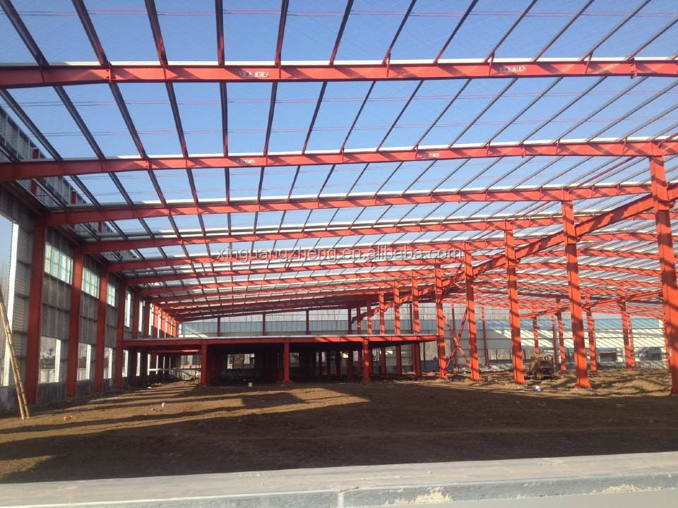 Cheap Light Steel Prefabricted Building Galvanized Structural Workshop