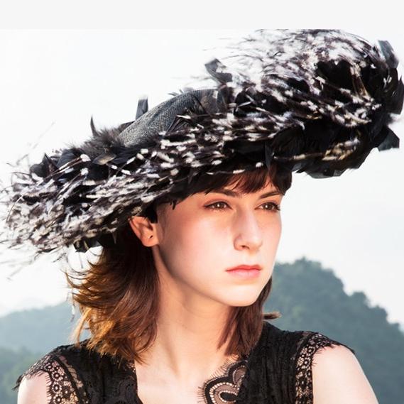 2e63fc5b67538 China Black Ostrich Feather Evening Dress