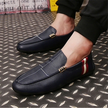 H10012D Soft Moccasins fashion loafers shoe for men High Quality Leather Shoes Man Flats Shoe