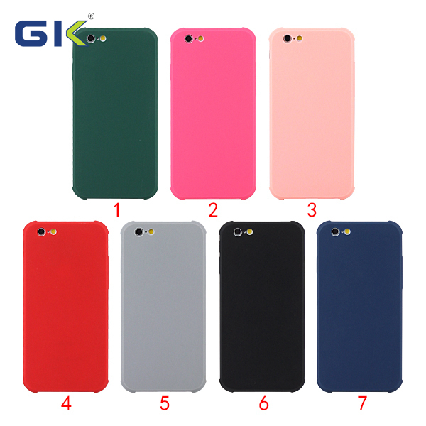 [GK] Solid Color Imitative Liquid Silicone 2MM TPU Phone Case For iPhone 6 Cover