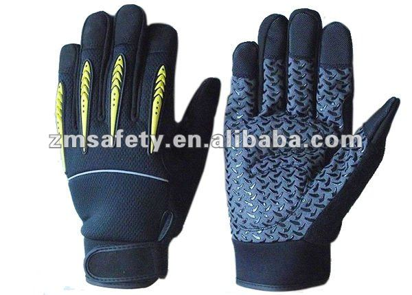 Silicon Palm Coated Pro Mechanic Glove With Knuckle Protection ZMR440