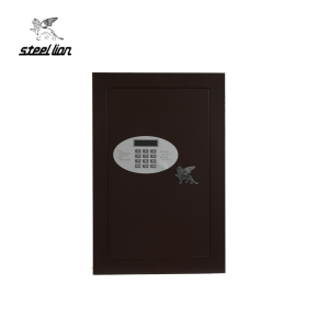 New design Factory Price brown hidden wall safe /Customized wall safe with key lock,hot-sale wall mounted safe box