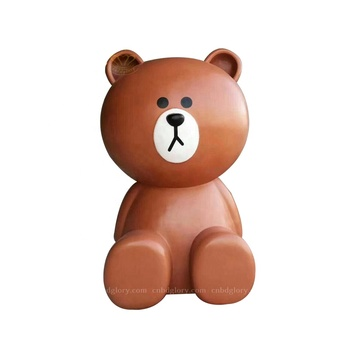 Best Selling Custom Sculpture Products Fiberglass Teddy Bear Statue