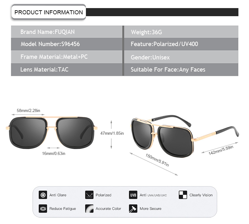 Fuqian polarized glasses meaning buy now for lady-11