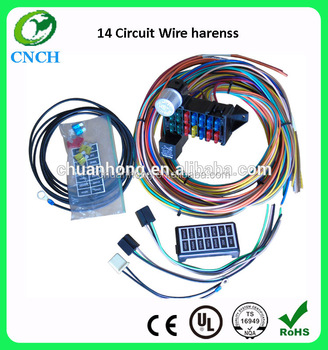 cnch 14 circuit automotive wiring kits fuse box classic universal rh alibaba com wiring harness kits supercheap auto auto wiring harness connector kit