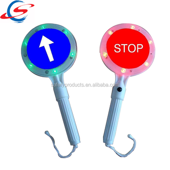 plastic road safety hand held stop octagon informative traffic signs