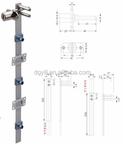 Office Desk Lock Cupboard Lock Push Bar Lock High Quality