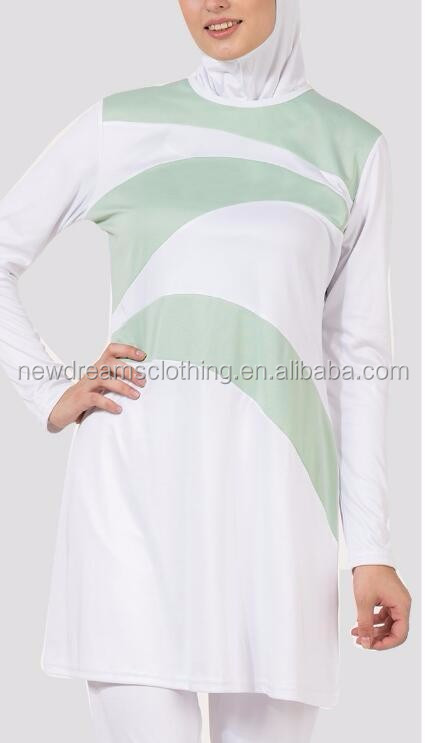 New Women Modest Clothing White OEM Muslim Swimwear