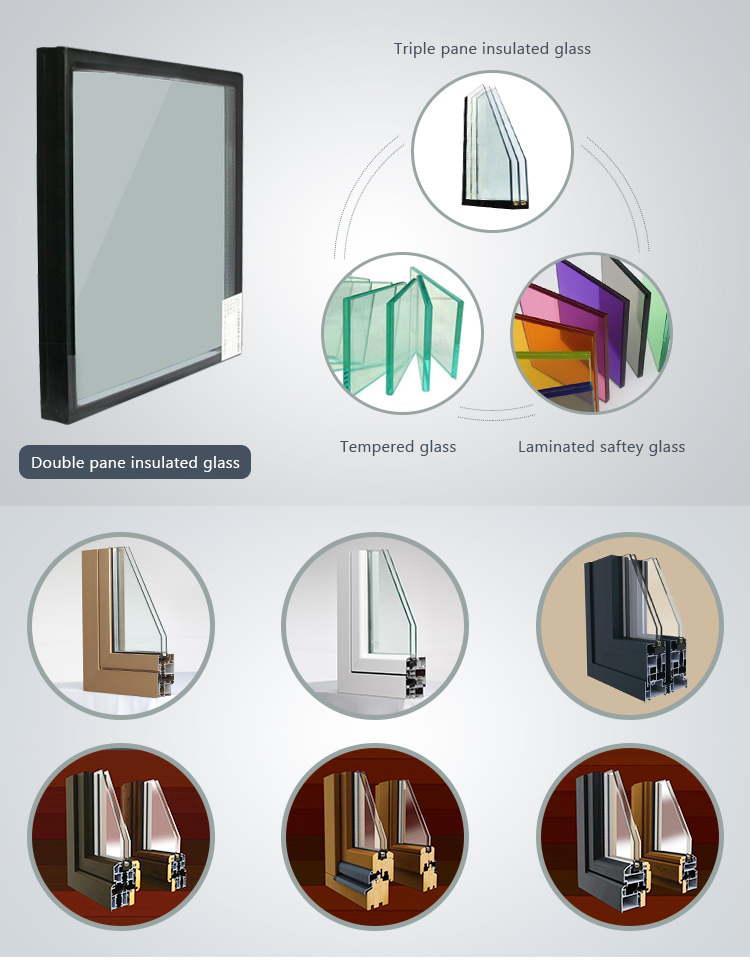 Insulated Glass Panel pictures aluminum window a home curtain  window and Door, Powder Coated Metal accordion folding door  Door