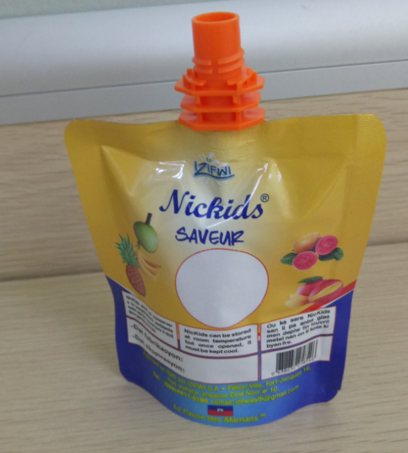 500ml Spout Top packaging bag for beverage