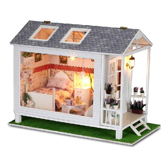 Get Quotations Free Shipping Diy Dollhouse Model 3d Wooden Doll House Handmade Model The Seaside Vacation House With