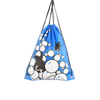 Promotional Printed Sports Swimming Pouch Drawstring Backpack Bag