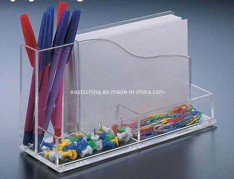 Custom Acrylic Desk Business Card Holder Pen Holder Buy Desk
