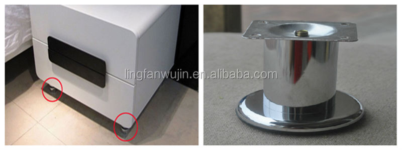 Furniture table and chair leg metal stainless steel round plates