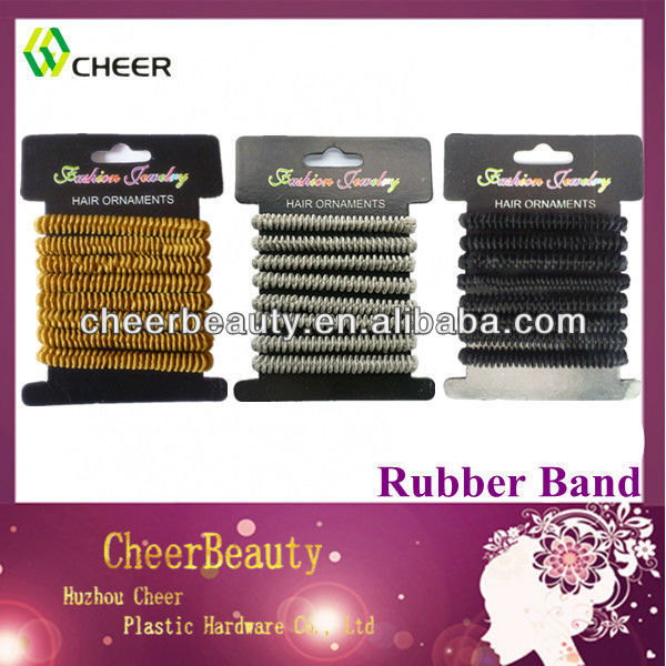 Hot sale different colour rubber bands hair bands