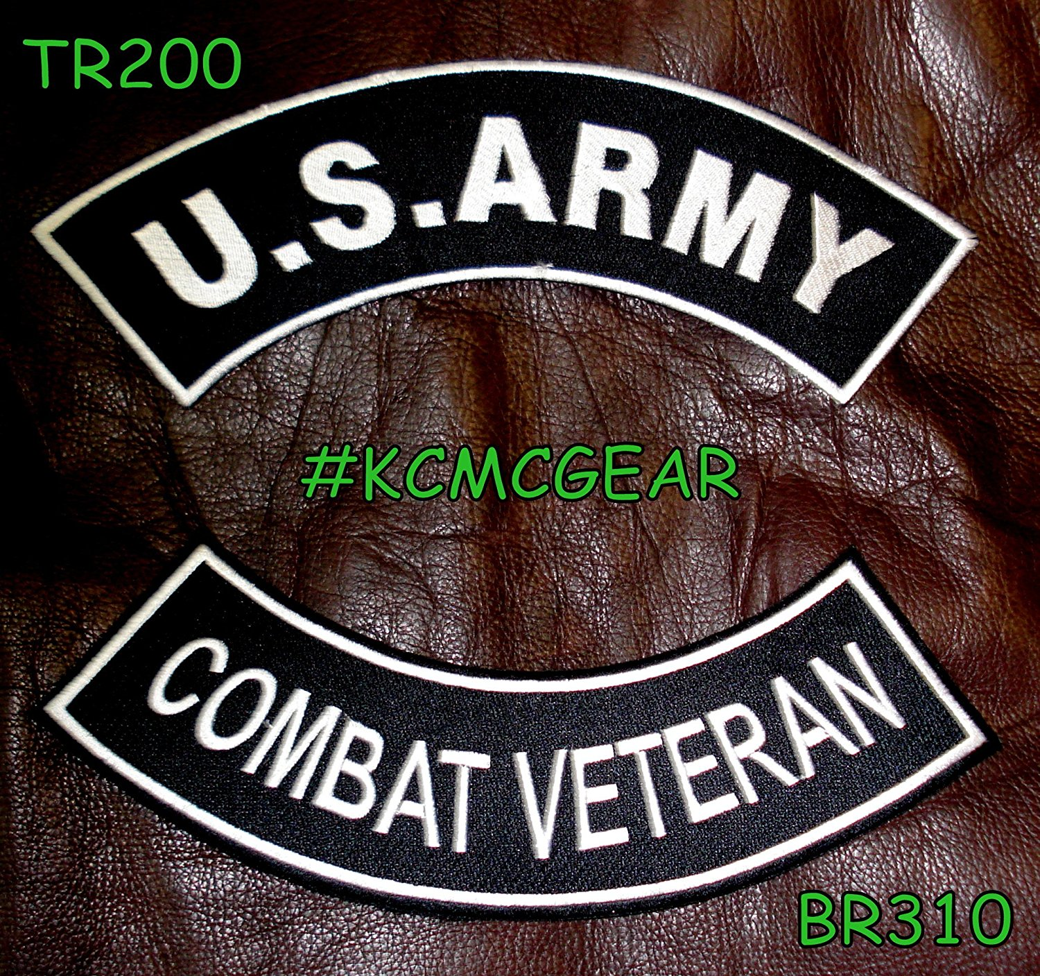 U.S. Army Combat Veteran Military Patch Set Embroidered Patches Sew on Patches for Jackets