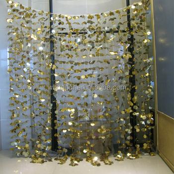 Gold Starlight Backdrop Tassel Fringe Tinsel Flower Curtain