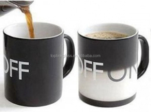 heat sensitive magic mug color changing Color Changing Mug-Black&White Magical ON/OFF Switch