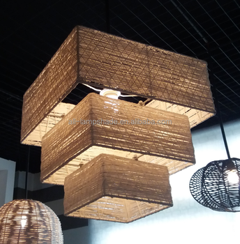 Woven rattan lamp shade in four layer shades for pendant lamps woven rattan lamp shade in four layer shades for pendant lamps ceilling lights aloadofball Image collections